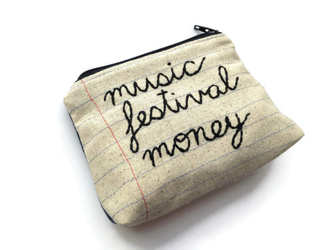 Music Festival Money Bag