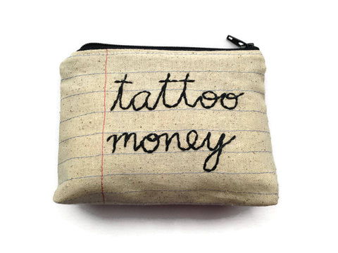 Tattoo Money Bag