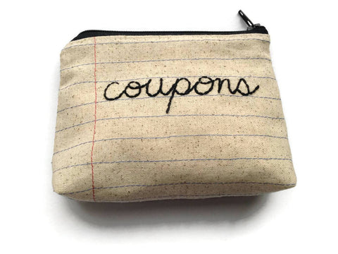 Coupon Holder Bag - Coupon Organizer - Coupon Keeper - Convenient Case - Change Purse