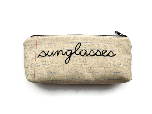 Eyeglass Case Zipper Pouch - Sunglasses