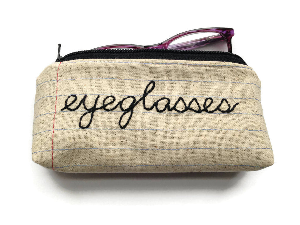 Eyeglass Case Zipper Pouch