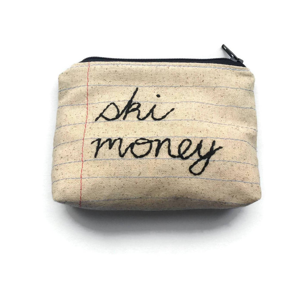 Ski Money Bag