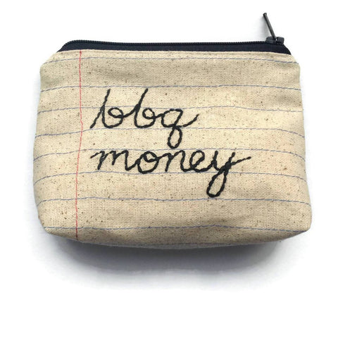 BBQ Money Bag - Zip Bag Money Case - Barbecue Lovers Gift- Coin Purse - Barbeque