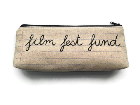Film Fest Fund - Handmade Money Bag - Film Festival Lovers Gift