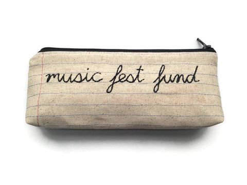 Music Fest Fund - Handmade Money Bag - Music Festival Lovers Gift