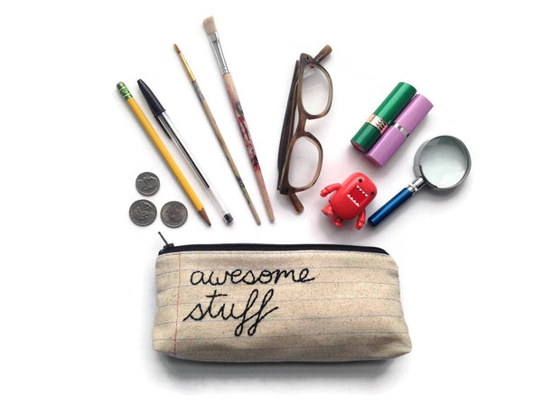 Awesome Stuff Zipper Pouch - Wholesale - Case Pack of 10
