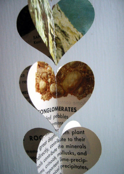 Rocks and Minerals Paper Heart Garland