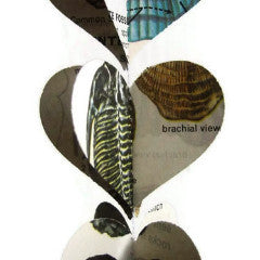 Fossils Science Party Supplies - Vertical Decorations - Classroom Decoration - Paper Heart Garland