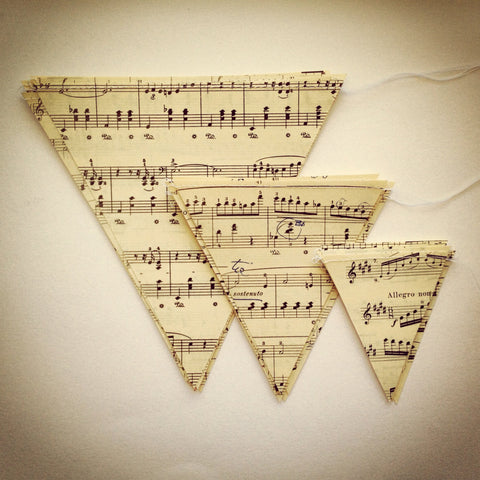 "Medium 5"" Vintage Sheet Music Banner"