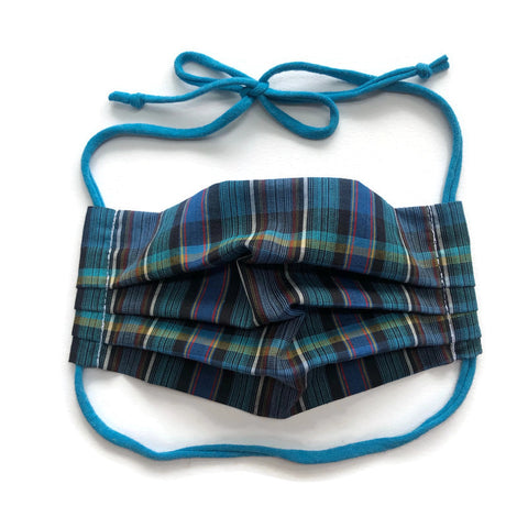 Handmade Mask - Pleated Style - Choose Your Size - Plaid