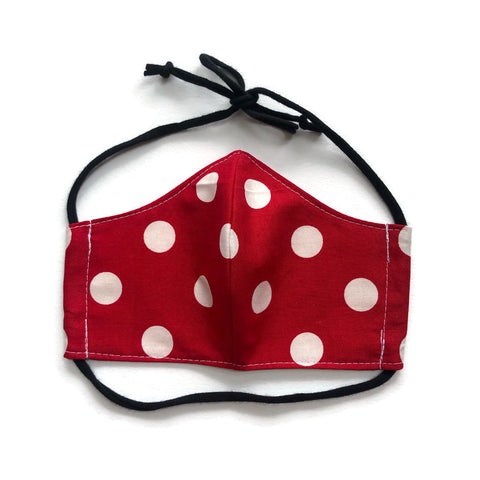 Handmade Mask - Choose Your Size - Fitted Style - Big Dot