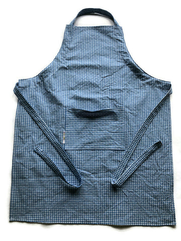 Handmade Apron - Adult Size - Blue and White Check