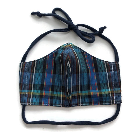 Handmade Mask - Choose Your Size - Fitted Style - Plaid