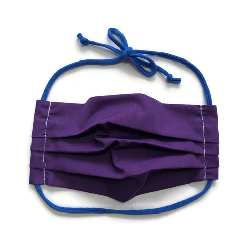 Handmade Mask - Unisex Pleated - Royal Purple