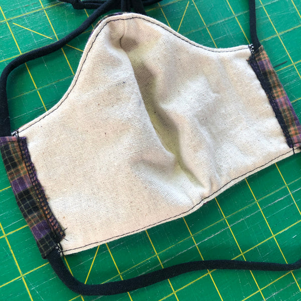 Handmade Mask - Choose Your Size - Plaid