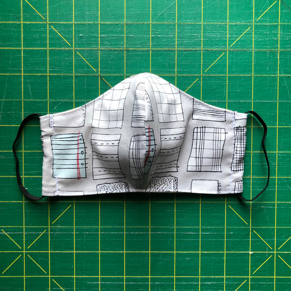 Handmade Mask - Large / Men's - Fitted Style - Paper Obsession