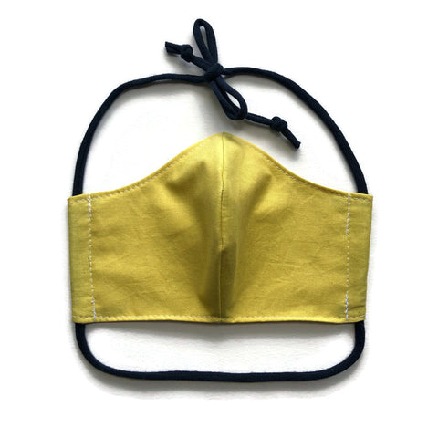 Handmade Mask - Medium / Teen / Women's - Fitted Style - Yellow