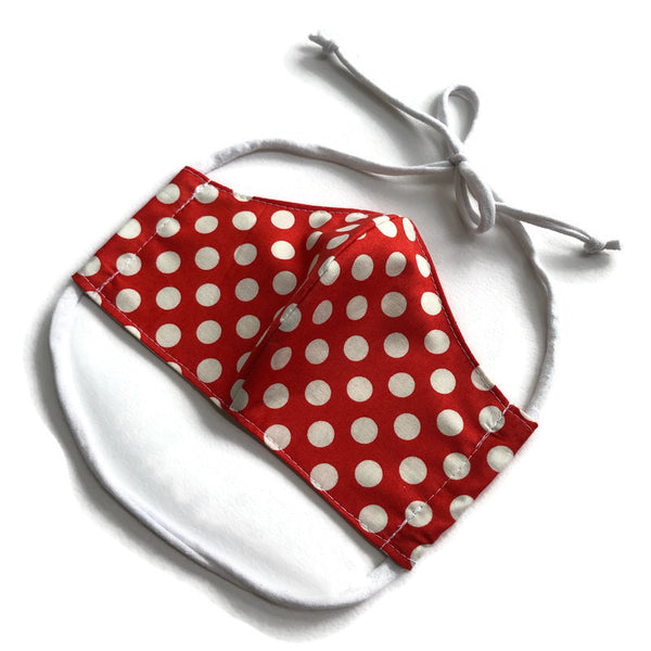Handmade Mask - Large / Men's - Fitted Style - Polka Dot