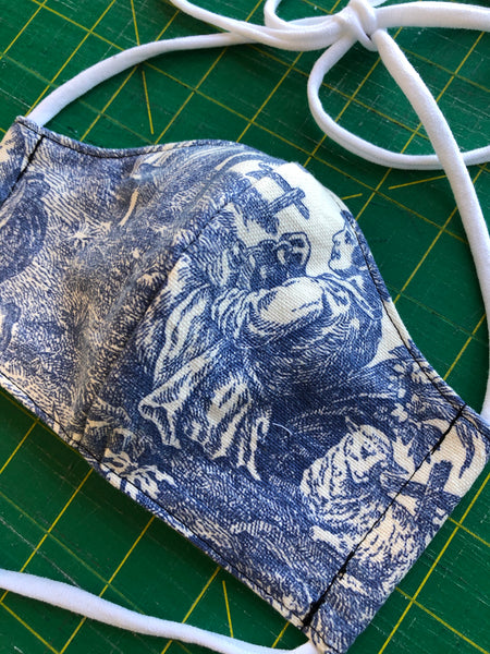Handmade Mask - Fitted Style - Large / Men's  - Toile