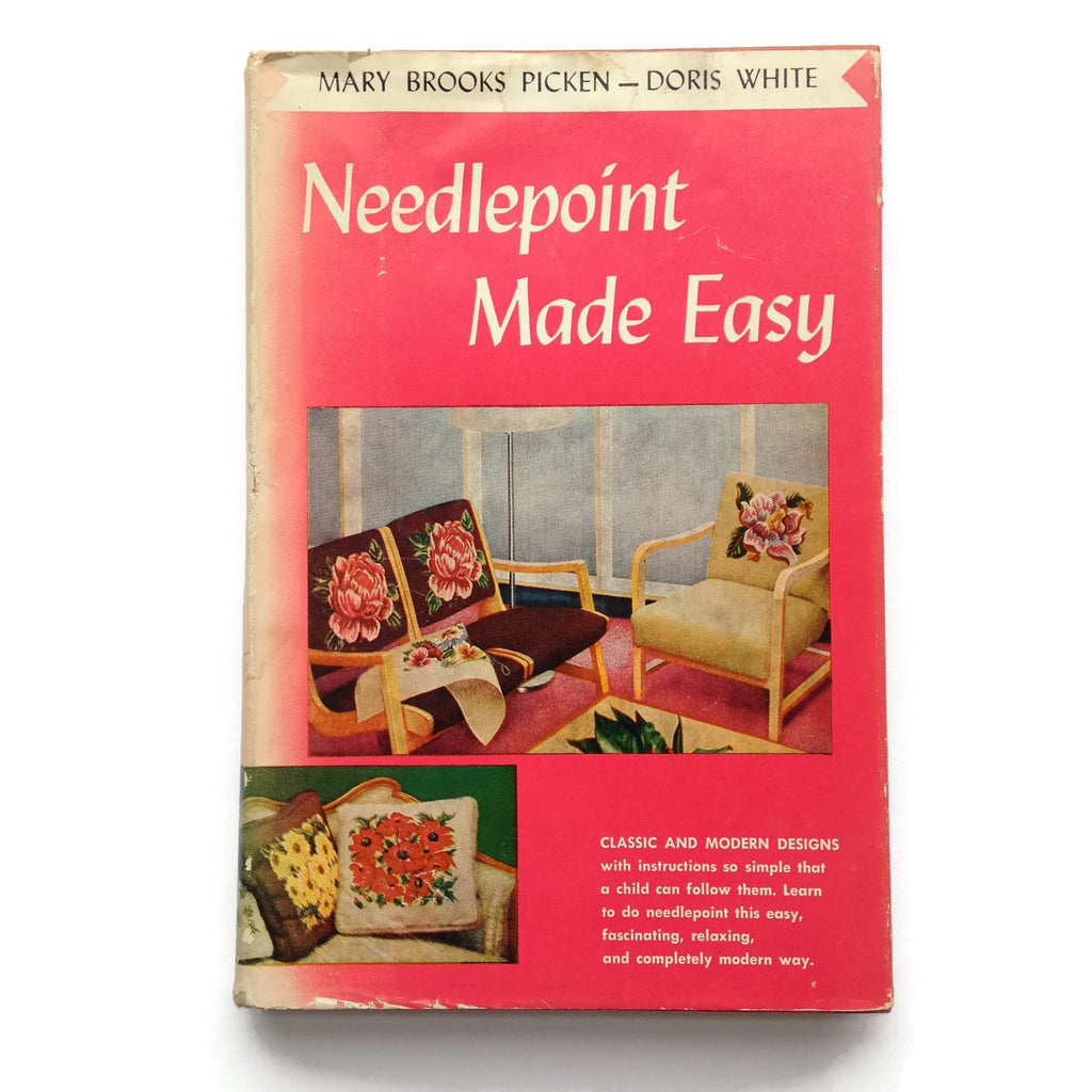 Needlepoint Made Easy - Hardcover Book - 1955 Craft Book - DIY