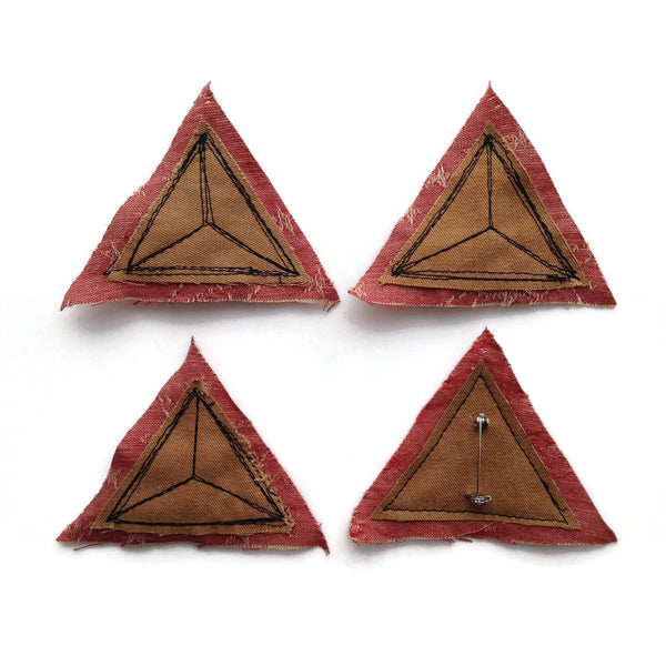 Handmade Tetrahedron Pin - Choose an Organization to Receive a Donation