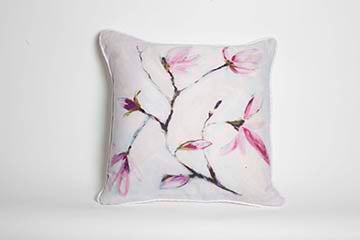 Japanese Flowering Magnolia Pillow