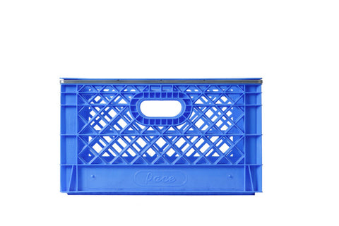 banded rectangle milk crates full pallet 96