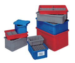 16 1/2 x 10 7/8 x 3 1/2 - Dividable Bin Container (3 pack bundle)