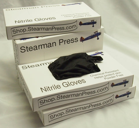 Nitrile Gloves, black (12 Pair)