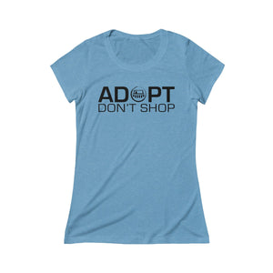 Adopt Don't Shop Triblend Tee - Black Dog Offroad