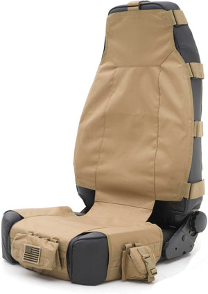 Smittybilt Front G.E.A.R. Seat Cover in Coyote Tan - Black Dog Offroad