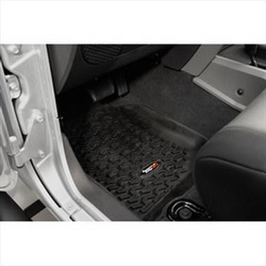 Rugged Ridge Front Floor Liner Pair for 07-13 Jeep Wrangler & Wrangler Unlimited JK - Black Dog Offroad