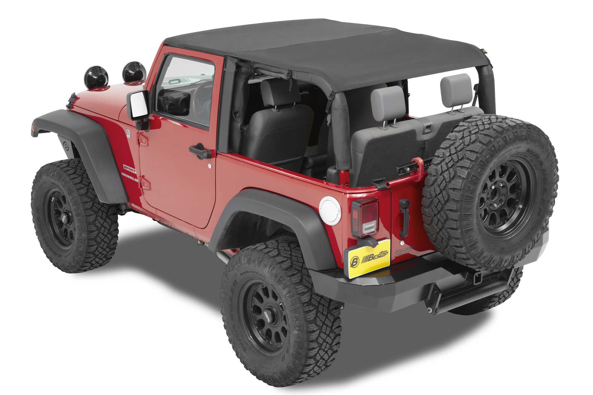 Superb Bestop Cable Style Safari Bikini Top For 10 16 Jeep Wrangler JK 2 Door    Black Dog Offroad