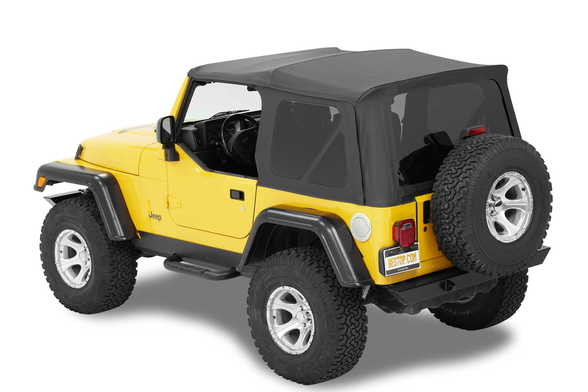 Bestop Supertop NX Soft Top In Black Diamond With Tinted Windows Without  Upper Doors For 97 ...