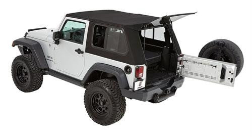 Bestop Trektop Pro Soft Top For 07 17 Jeep Wrangler JK 2 Door   Black Dog  Offroad