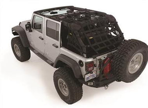 Smittybilt CRES HD - Cargo Restraint System for 97-06 Jeep Wrangler TJ - Black Dog Offroad