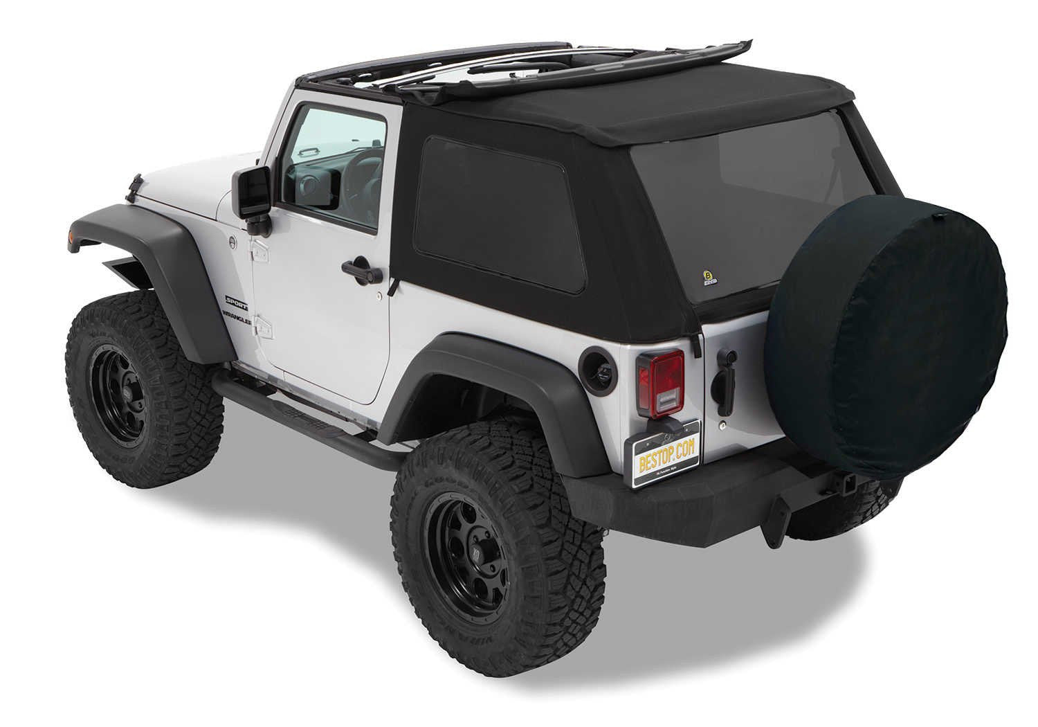 Captivating Bestop Trektop NX Twill Soft Top For 07 17 Jeep Wrangler JK 2 Door   Black  Dog Offroad