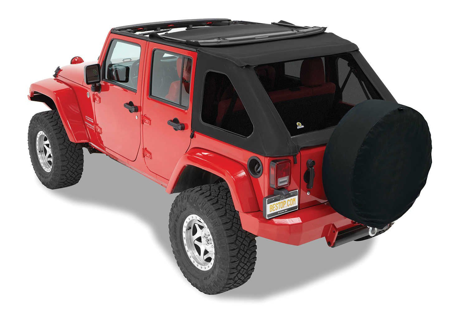 Bestop Trektop NX Twill Soft Top For 07 17 Jeep Wrangler Unlimited JK 4 Door