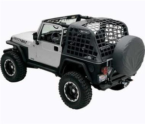Smittybilt CRES - Cargo Restraint System in Black for 07-16 Jeep Wrangler JK 2 Door - Black Dog Offroad