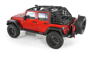 Smittybilt CRES HD - Cargo Restraint System for 07-17 Jeep Wrangler Unlimited JK 4 Door - Black Dog Offroad