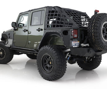 Smittybilt CRES - Cargo Restraint System in Black for 07-09 Jeep Wrangler Unlimited JK 4 Door - Black Dog Offroad