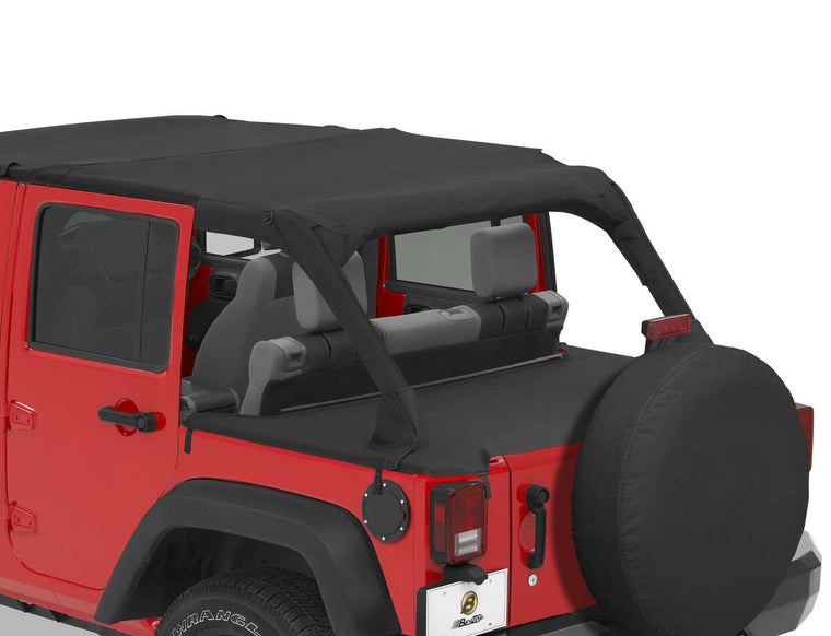 Bestop Duster Deck Cover For 07 16 Jeep Wrangler Unlimited JK 4 Door   Black
