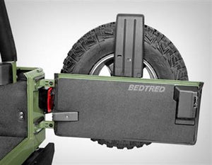 Bedrug BedTred Premium Molded Tailgate Mat for 97-06 Jeep Wrangler TJ & Wrangler Unlimited - Black Dog Offroad