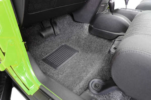 Bedrug Premium Carpeted Front Floor Covering for 07-16 Jeep Wrangler Unlimited JK 4 Door - Black Dog Offroad