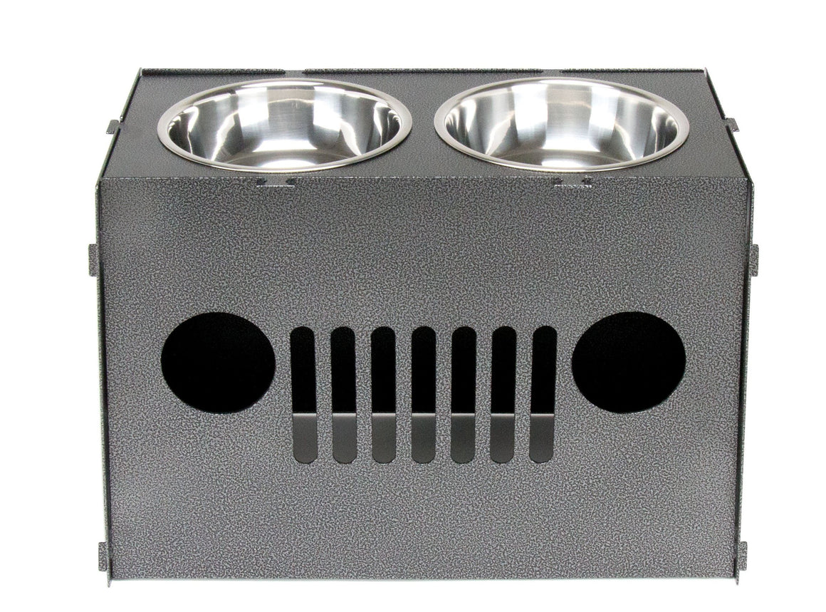 Lifted Jeep Dog Bowl - Double - Black Dog Offroad