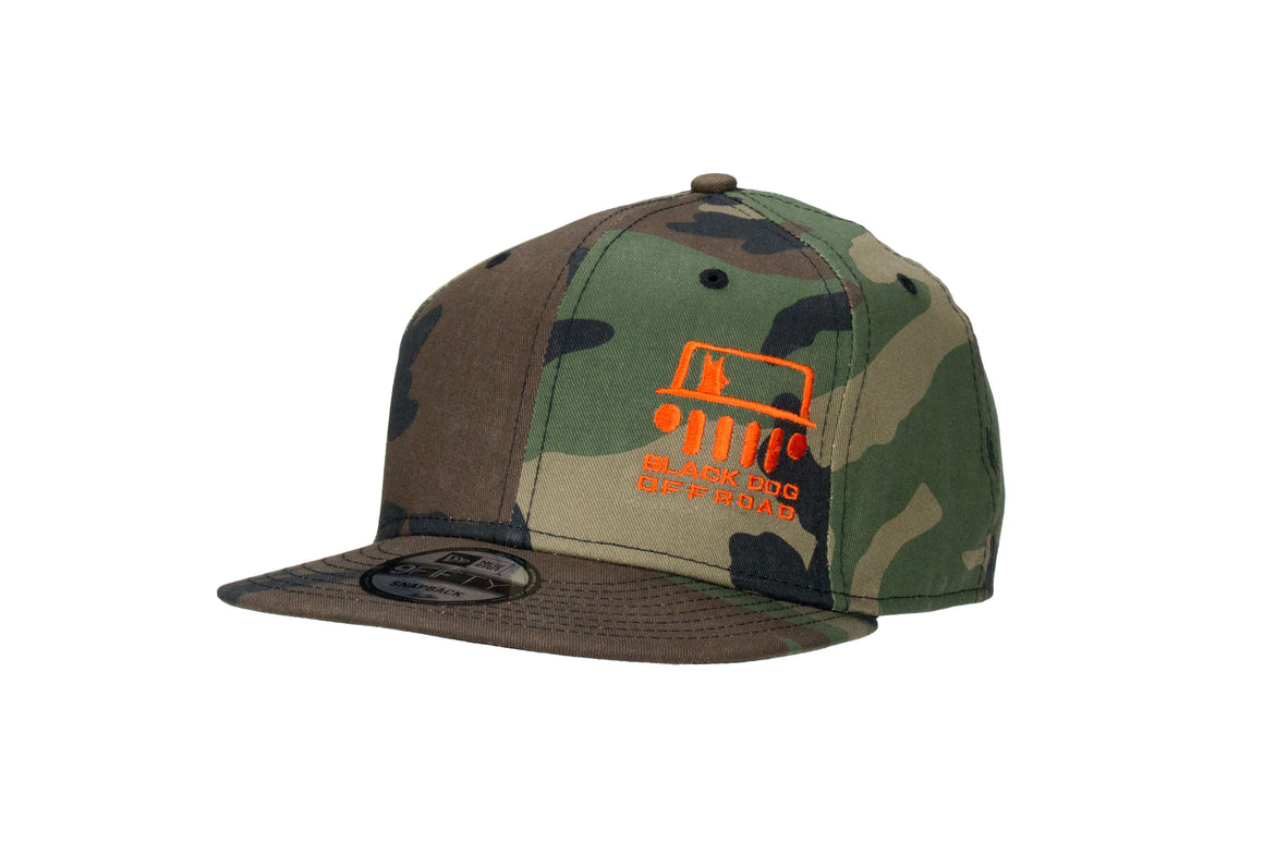 Black Dog Offroad New Era Flat Bill Snapback Cap - Black Dog Offroad