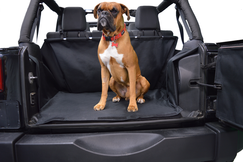 Dirtydog 4X4 Cargo Liner for Jeep Wrangler 2 Door - Black Dog Offroad