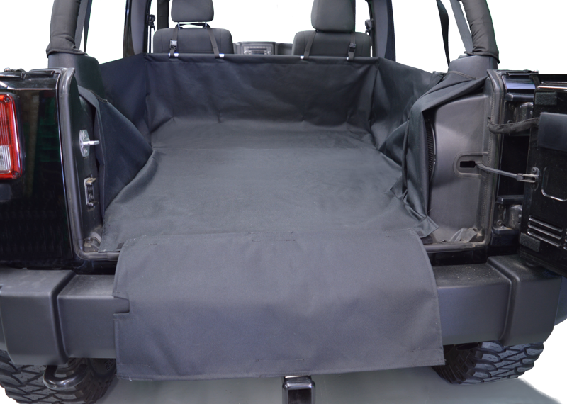Dirtydog 4X4 Cargo Liner for Jeep Wrangler Unlimited 4 Door - Black Dog Offroad