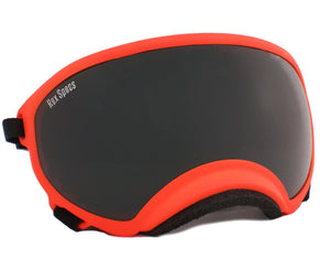 Rex Specs Dog Goggles Large - Orange - Black Dog Offroad
