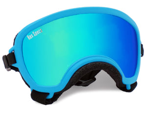 Rex Specs Dog Goggles Small Wide - Blue - Black Dog Offroad